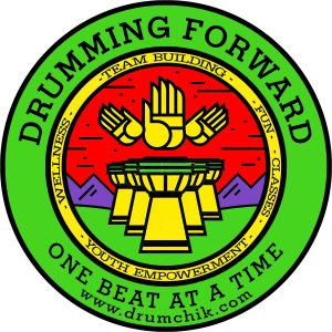 Drumming Forward - One Beat At A Time Logo
